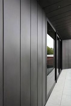 Architecture, Foundation Lucerne House Ceramic Tiles Black Wall Window Lamp Lighting Glass Aluminium Frame Architects Modern Home Design Decoration Ideas Interiors Cars Front Doors: Remarkable, Quiet Sophisticated House in Auckland, New Zealand Exterior Wall Panels, Exterior Wall Cladding, House Cladding, Cladding Panels, Exterior Siding, Exterior House Colors, Cladding Ideas, Modern Exterior, Exterior Design