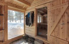 This 118 small Norwegian ski cabin comfortably accommodates a family of four. - Living in a shoebox Cabin Interior Design, Cabin Design, Tiny House Design, Tiny Cabins, Tiny House Cabin, Ideas De Cabina, Building A Small Cabin, Tiny House France, Cabana
