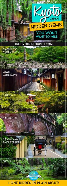 Stunning Kyoto Hidden Gems You Won't Want To Miss – – Best in Travel – The best places to visit in 2020 Hawaii Travel, Asia Travel, Traveling Europe, Tokyo Travel, Kyoto Itinerary, Japan Holidays, Les Continents, Japan Travel Guide, Japan Guide