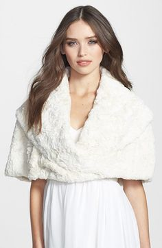 Eliza J Faux Fur Stole available at #Nordstrom