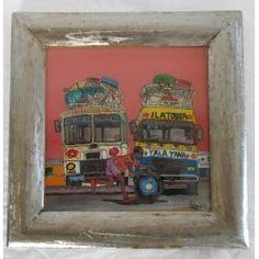 "Mini Peinture sous-verre ""Diag Diag """