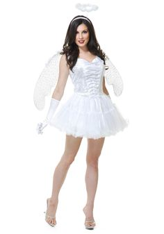 Adult Angel Costumes - Sexy Black Angel Costume