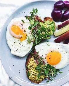 Avocado Toast with Sunny Side Up Eggs