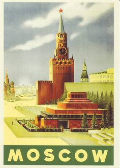 Welcome to the USSR. Soviet Travel Postcard. Moscow. PROPAGANDA collectible 1940 kremlin