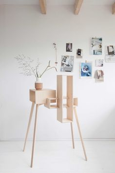 Plywood Table Cabinet by Siebring & Zoetmulder made in Netherlands on CROWDYHOUSE