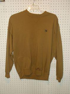 ASHWORTH Men's MEDIUM Michigan University Long Sleeve Crewneck Sweater #Ashworth #Crewneck