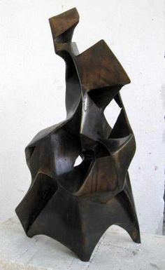 Bronze Abstract Contemporary or Modern Outdoor Outside Exterior Garden / Yard Sculptures Statues statuary sculpture by artist Snejana Simeonova titled: 'MOTHERHOOD'