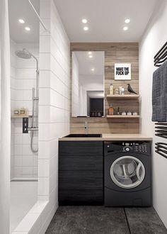 Buanderie et salle de bain