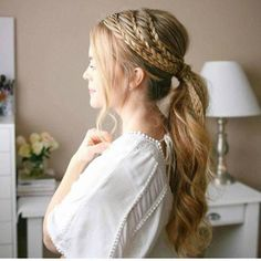 Contemporary+Braided+Ponytail