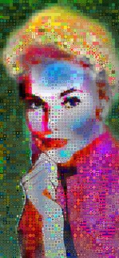 "Saatchi Art Artist John Lijo  Bluefish; Collage, ""The Lavender Blonde"" #art"
