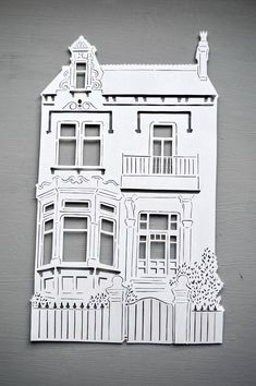 Personalised House Papercut with Floating Frame, Framed Handcut Home Cut Out Art Gift,Building Housewarming Gift, New Home Kirigami, Paper Cutting, Arte Pop Up, Cut Out Art, Licht Box, Diy And Crafts, Paper Crafts, Building Drawing, Hobby House