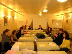 Relaxing before next #reflexology discussion, demonstration, and practice. www.AmericanAcademyofReflexology.com