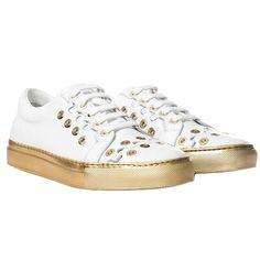 Fancy | White Leather Sneakers by Sonia Rykiel