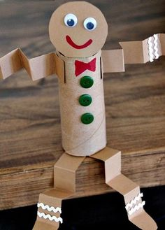 My toilet paper roll gingerbread man craft is yet another holiday craft idea using simple, inexpensive and recycled materials. My toilet paper roll gingerbread man craft is yet another holiday craft idea using simple, inexpensive and recycled materials. Kids Crafts, Daycare Crafts, Toddler Crafts, Preschool Crafts, Kids Holiday Crafts, Craft Projects, Christmas Crafts For Children, Preschool Kindergarten, Crafts For Winter