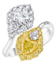 Cellini Jewelers Heart Crossover Diamond Ring