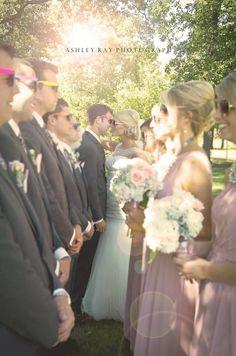 Creative wedding party photos #photography #weddings #bridesmaids
