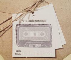 Tarjeta para que los invitados os dediquen una canción | Lluvia de arroz                                                                                                                                                                                 Más