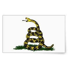 flag with a snake on it