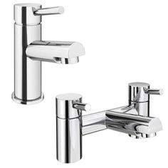 Shop the Cruze Modern Tap Package (Bath + Basin Tap), these modern bathroom taps feature a stylish lever design, and perfectly rounded pillars for a sleek, cool modern look. Loft Bathroom, Bathroom Taps, Modern Bathroom, Family Bathroom, Bath Shower Mixer Taps, Bath Taps, New Bathroom Ideas, Pipe Sizes, Ceramic Sink