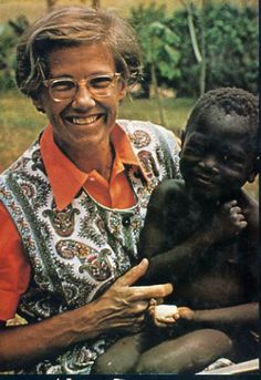 """Helen Roseveare - born in England 1925, she became a medical missionary to Africa. Captured and brutally treated, was rescued and served seven more years there. Her motto is """"If Christ be God and died for me, then no sacrifice can be too great for me to make for him."""""""