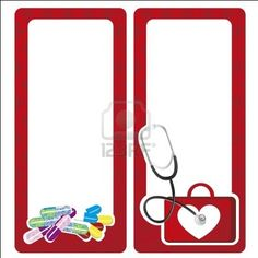 medical cards decorate with medicine elements Stock Photo - 12756302