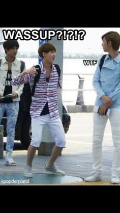 """The childish maknae being shot down by his hyung and his fellow maknae is just like """"that was me two weeks ago, but now *flips hair* I'm a man"""""""