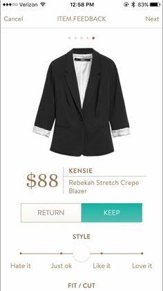 Kensie Rebekah Stretch Crepe Blazer