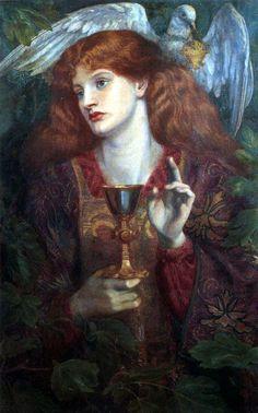 """""""A Moça do Santo Graal"""". (by Dante Gabriel Rossetti)."""