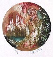 La Dame des eaux, Gravure, du peintre, Carmelo, DE LA PINTA, Signée et numérotée au crayon
