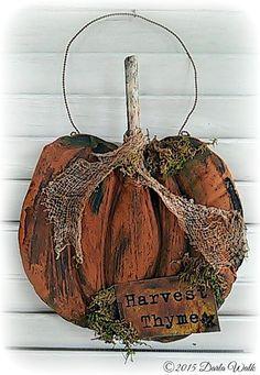 Primitive Folk art Pumpkin E Pattern