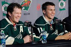 Ryan Suter (left) and Zach Parise -- The MN Wild #smiles