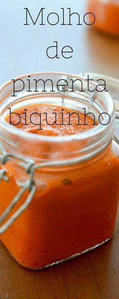 receita de molho de pimenta biquinho, molho cremoso de pimenta biquinho em conserva caseiro e fácil de fazer