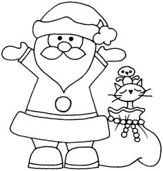 coloring sheets Christmas santa claus printable free for kindergarten