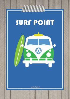 Poster Surf Point. #fretegrátis