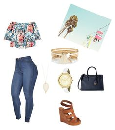 """""""Blues"""" by sevendaytrends on Polyvore featuring Lucky Brand, Elizabeth and James, MICHAEL Michael Kors, Accessorize, Michael Kors and River Island"""
