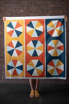 Octagon Table Runner Panels - Fall Colorway — String & Story