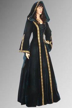 Renaissance Maiden Dress Gown with Hood Handmade by YourDressmaker