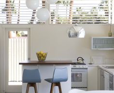 Midcentury Kitchen Decorating Ideas With Barstool Bright CEILING LIGHT