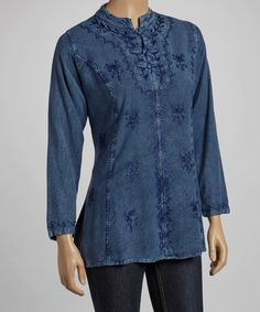Take a look at this Blue Three-Frog Top by The OM Company on #zulily today! Comes in a few colors. Nice oldtime shirt.