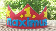 Hey, I found this really awesome Etsy listing at https://www.etsy.com/listing/190120728/personalized-felt-birthday-crown