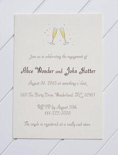 Printable New Year's Eve Wedding Invitations