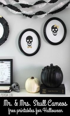 Persia Lou: Mr. and Mrs. Skull Cameo - Free Printable!