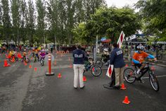 Incredible Bike Rodeo set-up by the Napa PD - photo by Jason Tinacci