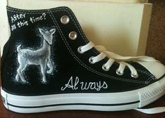 Hand Painted Chucks - Harry Potter.  @Alyssa Cote