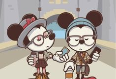 """jerrodmaruyama: """" My thanks to Disney Examiner for debuting the latest Hipster Mickey (& Minnie) piece today! The art will debut at WonderGround Gallery on Feb I'll be at the gallery Feb from PM on both days. Come by and say hello! Mickey Mouse E Amigos, Mickey Mouse And Friends, Mickey Minnie Mouse, Disney Mickey, Disney Art, Disney Pixar, Walt Disney, Disney Characters, Hipster Wallpaper"""