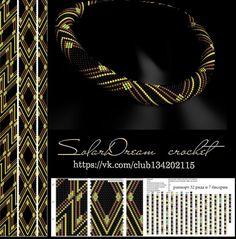 """Бесплатные схемы от SolarDream"" Crochet Jewelry Patterns, Loom Bracelet Patterns, Crochet Designs, Beading Patterns, Seed Bead Bracelets, Seed Bead Jewelry, Bead Jewellery, Beaded Jewelry, Crochet Beaded Necklace"