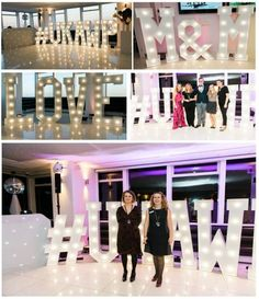Mighty Fine Entertainment Light Up Letters at the recent UK Association of Wedding Planners Mix n' Mingle Event - www.mfent.co.uk