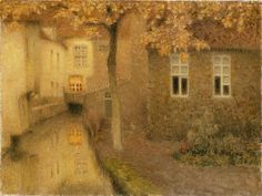 1898. A Canal in Bruges at Dusk (Henri Le Sidaner )