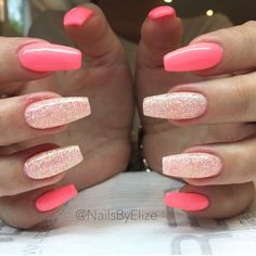 47 Playful Glitter Nails That Shines From Every Angle #GlitterNails