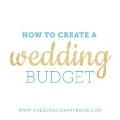 How to begin starting a wedding budget in order to fit within your means. A great wedding doesn't need a big bank.